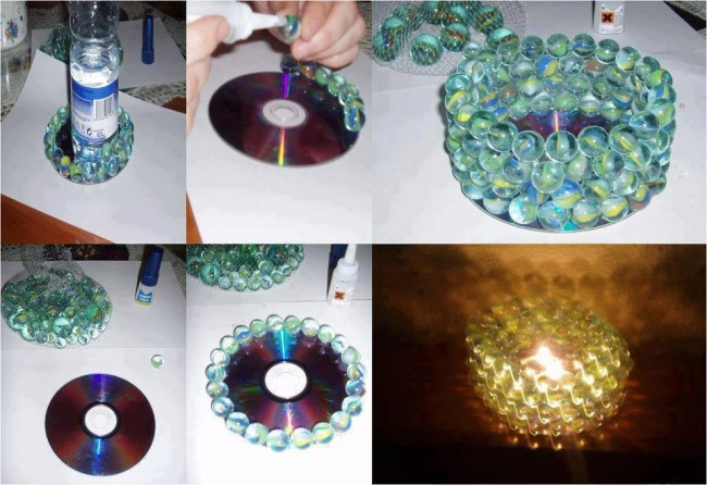 How to create crafty decorations out of useless cd 39 s for Decorative items from waste cd