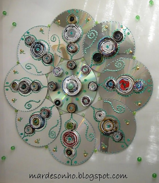 DIY Recycled CD,s Wall Decoarating Craft