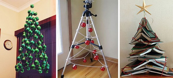 Recycled handmade christmas decor innovative crafts Christmas tree ideas using recycled materials