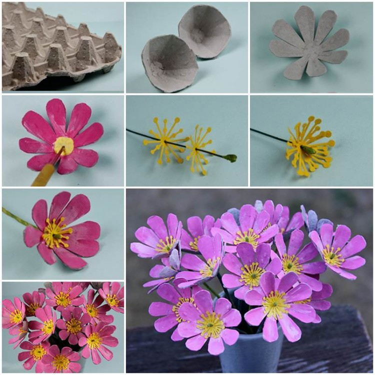 DIY Recycled Egg Carton Flower Craft