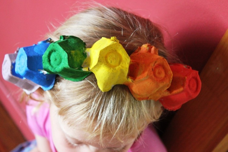 DIY Recycled Egg Carton Kids Hair band Craft