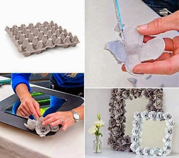 Creative diy recycled crafts recycled things Egg carton flowers ideas