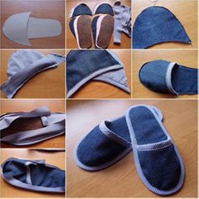 DIY Recycled Jeans Stylish Shoes