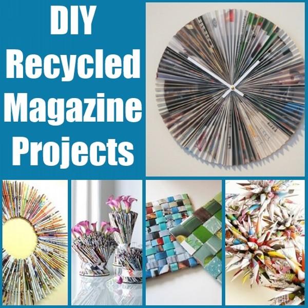 DIY Recycled Magazines Ideas