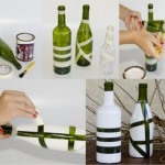 DIY Recycled Painted Bottle Flower Vase