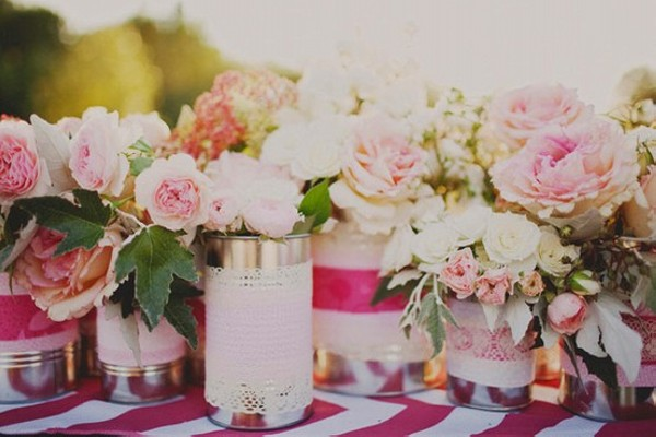 DIY Repurpose Tin Cans Beautiful Flower Vase