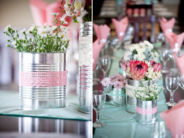 DIY Repurpose Tin Cans Flower Vase