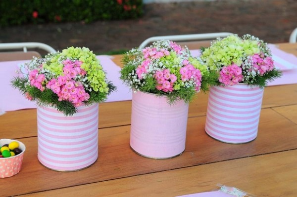DIY Repurposed Tin Cans Beautiful Flower Vase