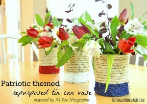 DIY Repurposed Tin Cans into Flower Vases