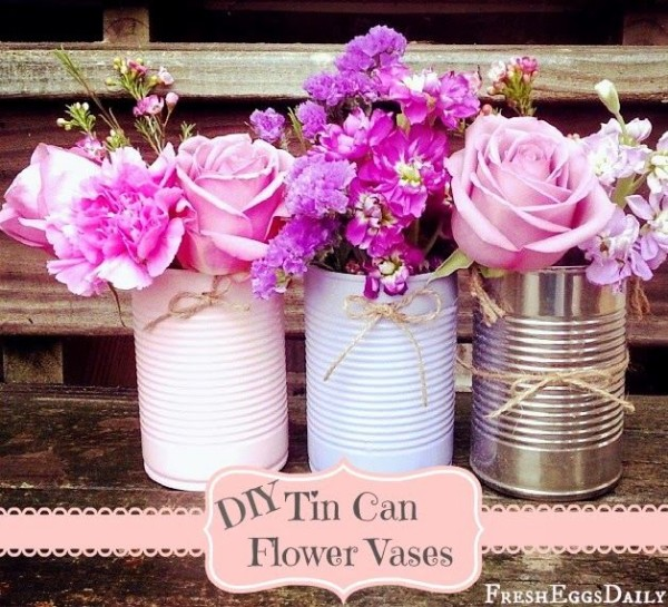 DIY Tin Cans Beautiful Flower Vases