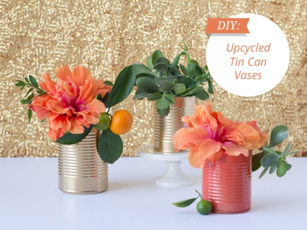 DIY Upcycled Tin Cans Flower Vase