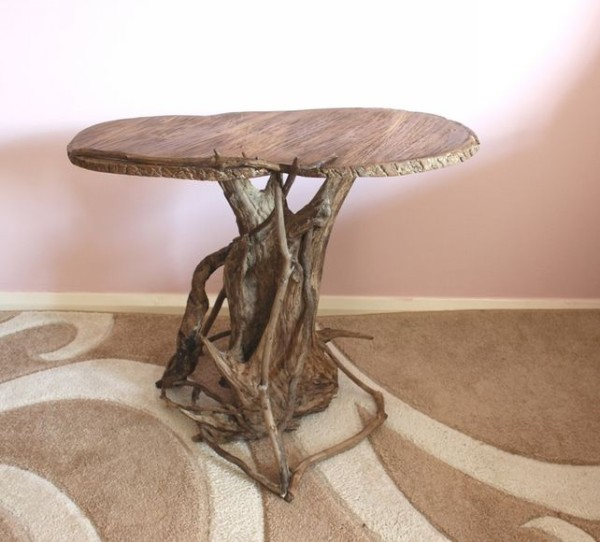 Driftwood into Upcycled Table