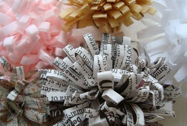 Flowers Made from Recycled Paper