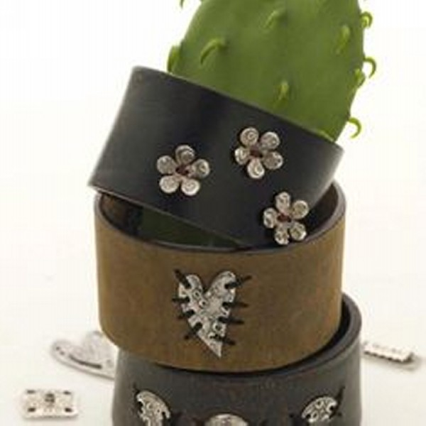 Jewelry Bracelet from Recycled Old Belts