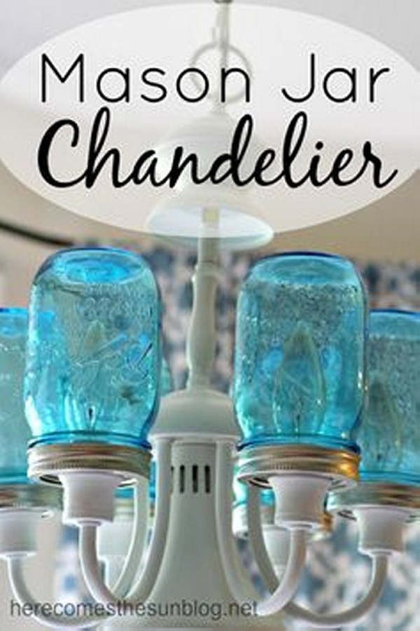 Mason Jars Creative Chandelier