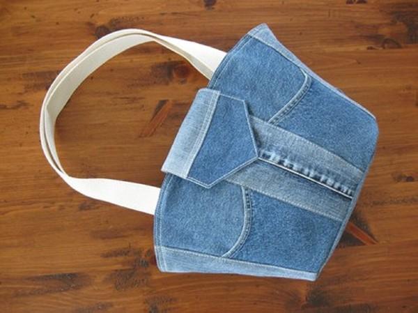 Old Blue Denim Jeans Bag