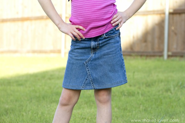 Old Blue Jeans Pant into Awesome Skirt