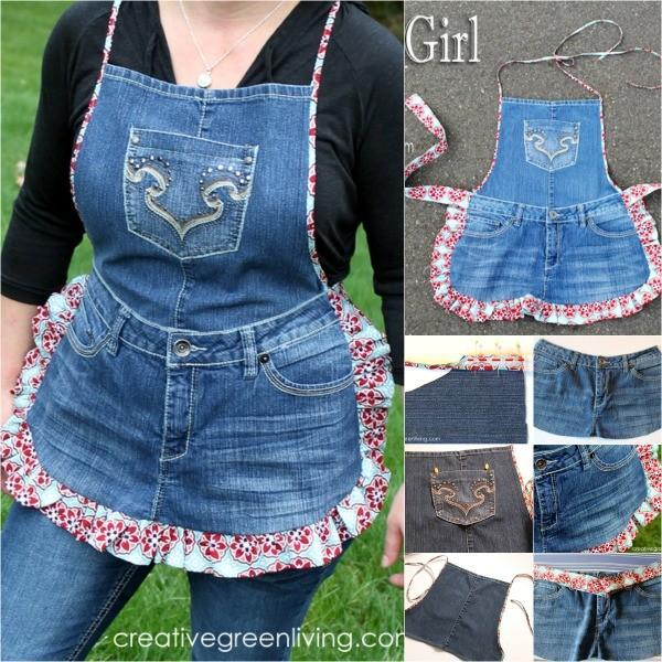 Old Denim Jeans Ladies Dress