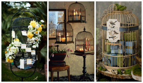 Patio Decor from Repurposed Bird Cages