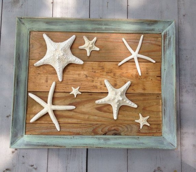 Reclaimed Wooden Pallet Wall Art Stars