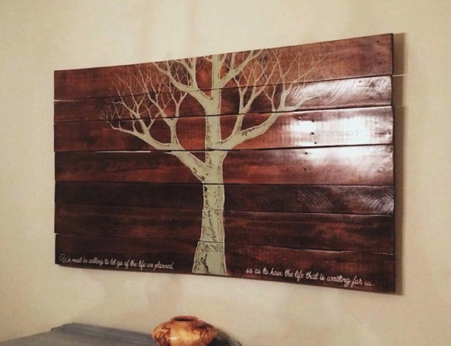 Reclaimed Wooden Pallet Wall Hanging