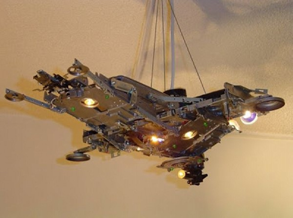 Recyced Electronics Space Lamp