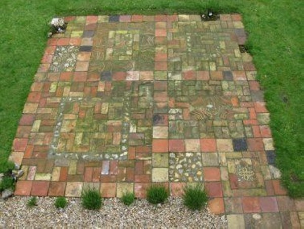 recycled awesome brick patio - Brick Patio Designs