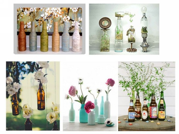 Innovative recycled home decor crafts recycled things for Glass home decor