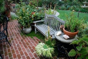 Recycled Attractive Brick Patio