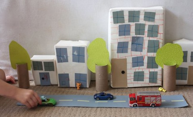 Recycled Cardboard Box City Kid Toys
