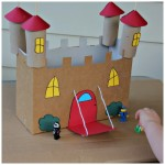 Recycled Cardboard Castle House Kid Toys