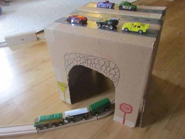 Recycled Cardboard Craft for Kid