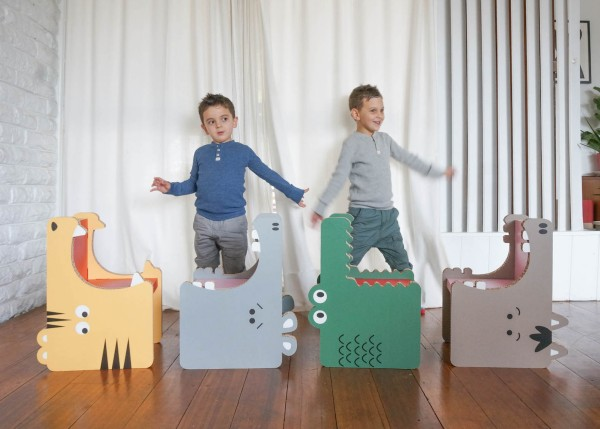 Recycled Cardboard Furniture for Kids