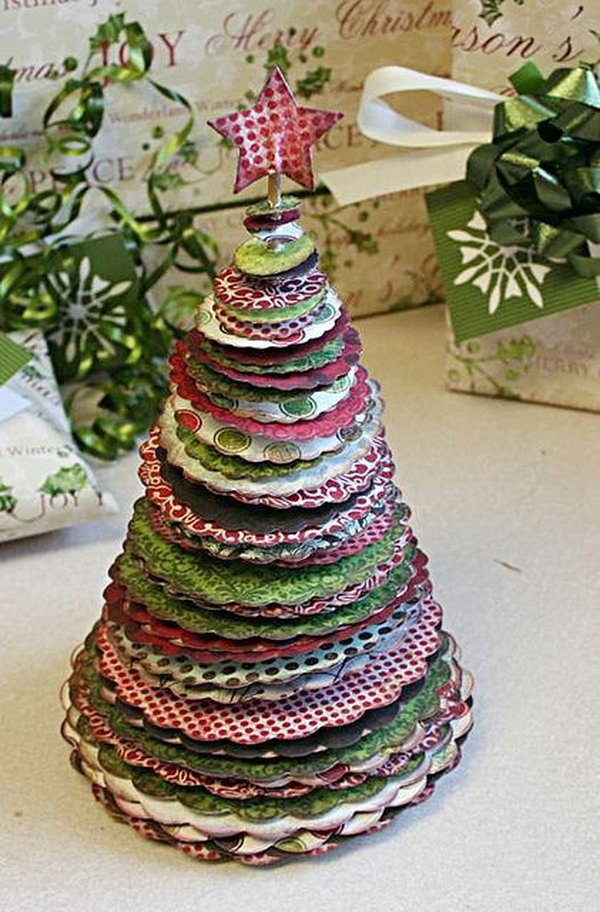 Recycled Christmas Tree Decorating