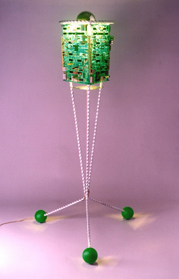 Recycled Electonic Lamp