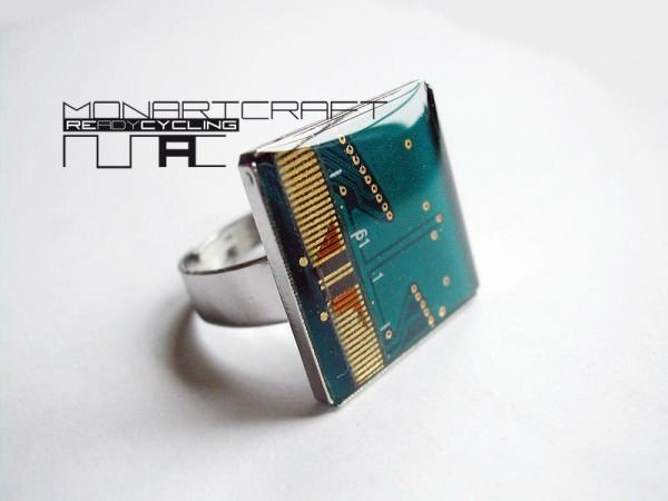 Recycled Electronic Circuit Borad Ring