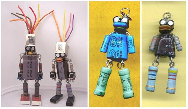 Recycled Electronics Smart Robots