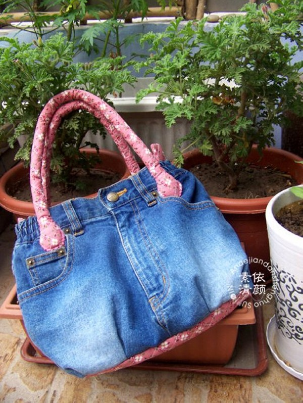 Recycled Fabric Jeans bag