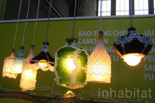 Recycled Glass Bottles Lamp