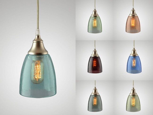 Recycled Glass Bottles Metro Lamp