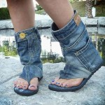 Recycled Jeans Stylish Sandal Shoes