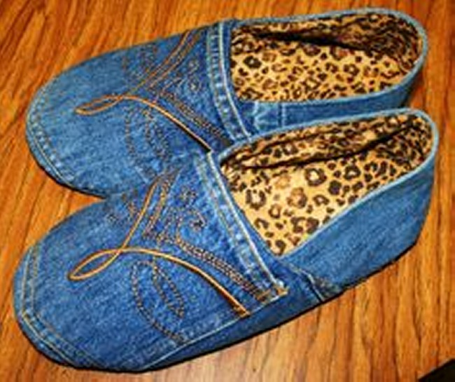 Recycled Jeans Stylish Shoes