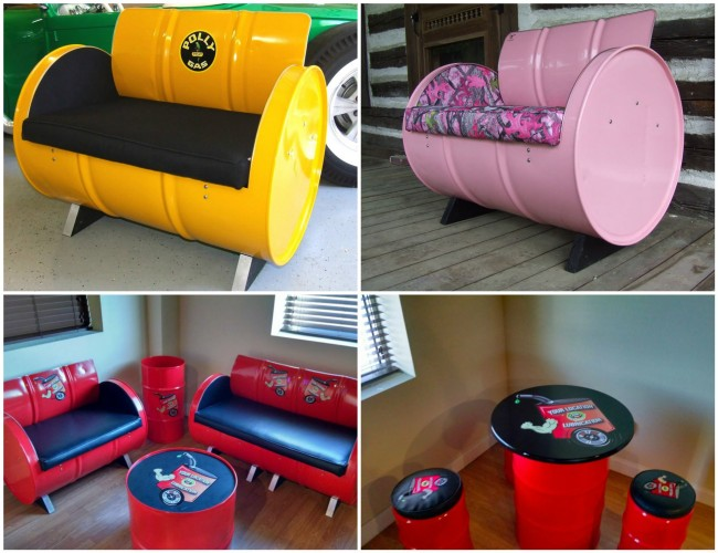 Recycled Metal Drums into Awesome Furniture