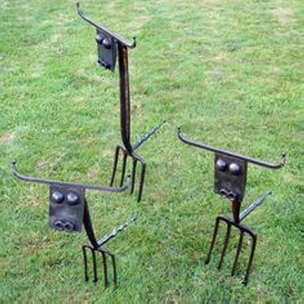 Recycled Metal Garden Decor Ideas Recycled Things, Garden Idea