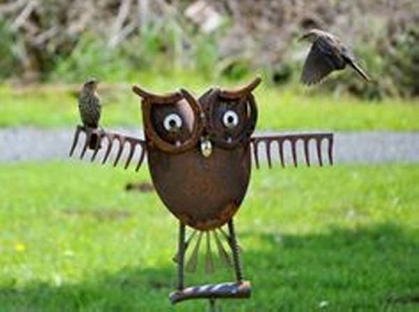 Recycled Metal Garden Decor