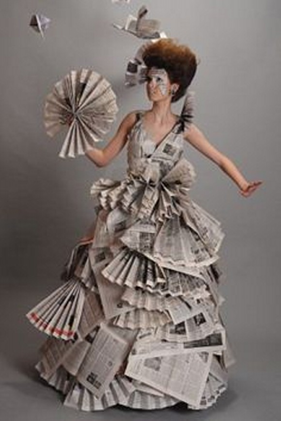 Recycled Newspaper Innovative Lady Dresses Things
