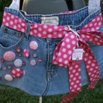 Recycled Old Fabric Jeans Bag