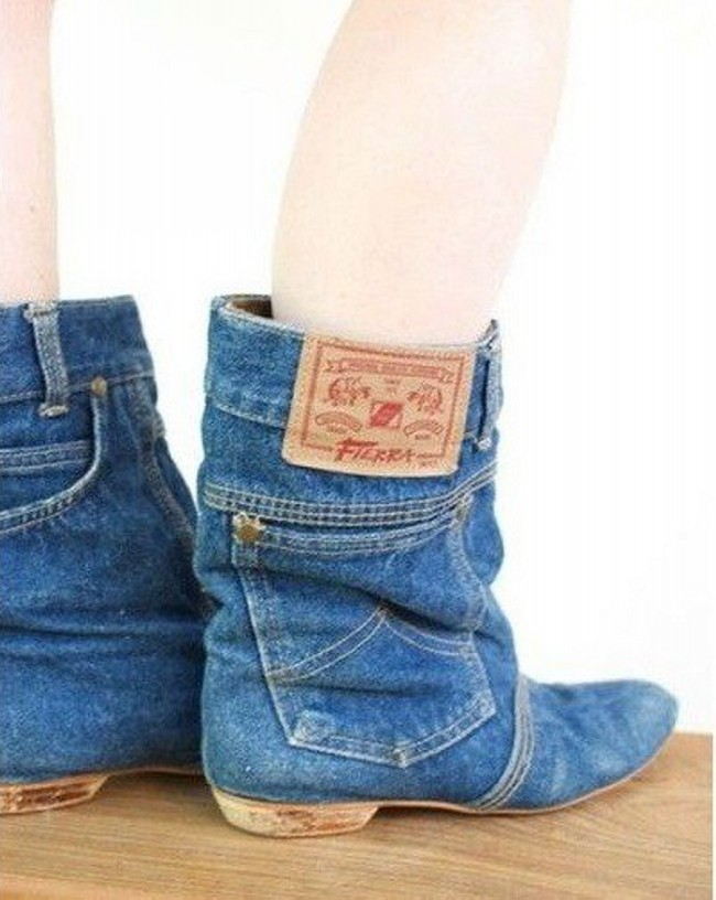 Recycled Old Jeans into Stylish Shoes | Recycled Things