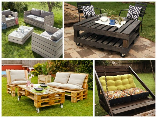 Recycled Pallet Furniture for Patio