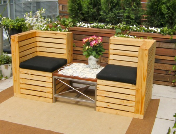 Recycled Pallets Beautiful Chairs for Patio